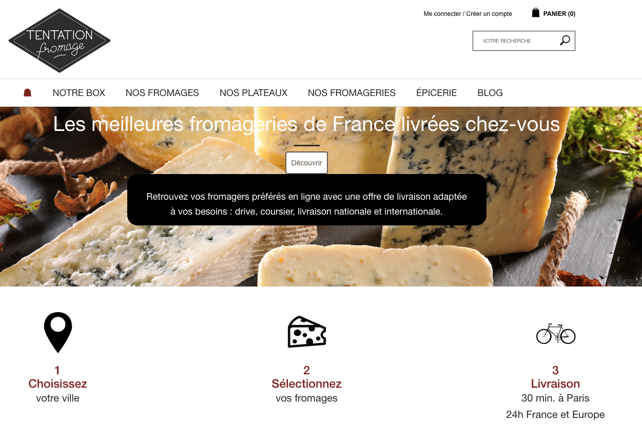 Tentation fromage : Box fromage vin et charcuterie