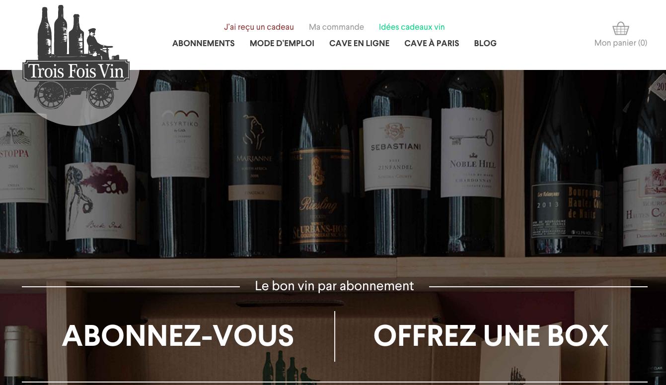 Trois fois vin : Box vin