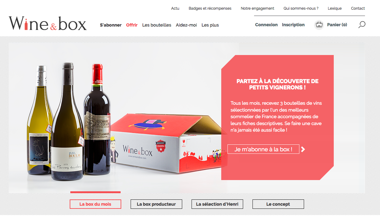 Wine & box : Une box vin engagée