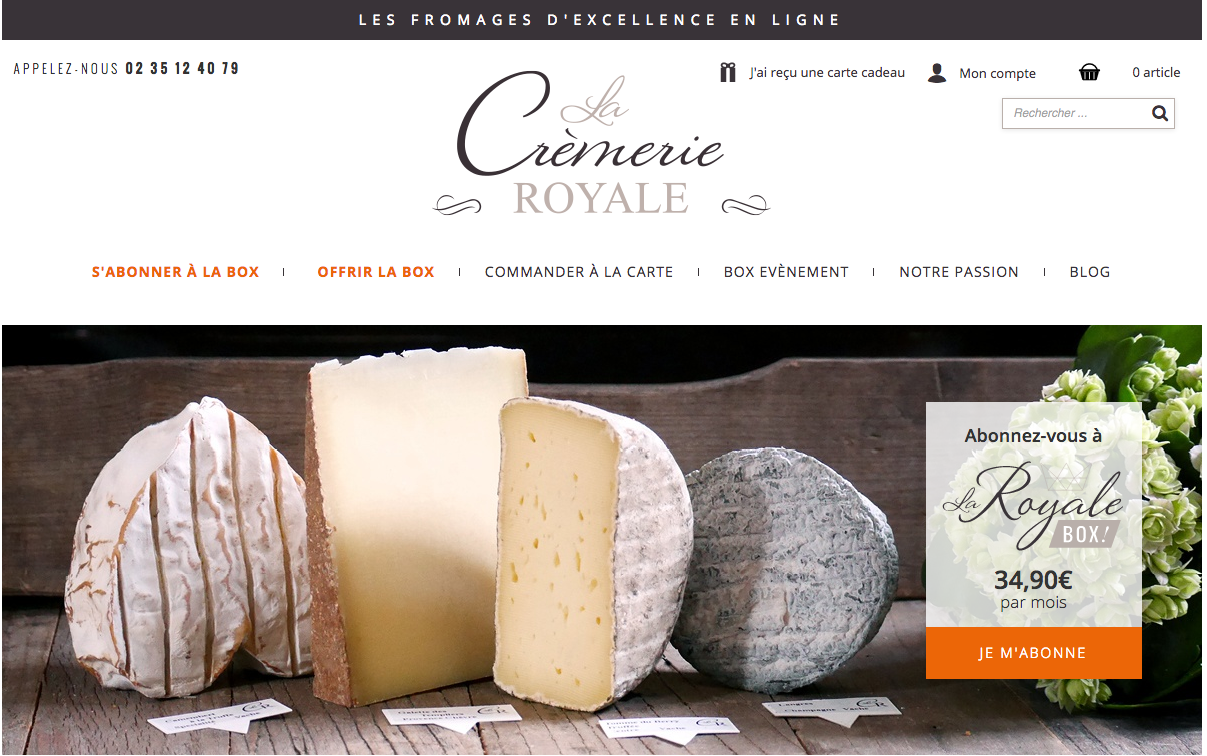 La cremerie royale : une box de fromages d'exception