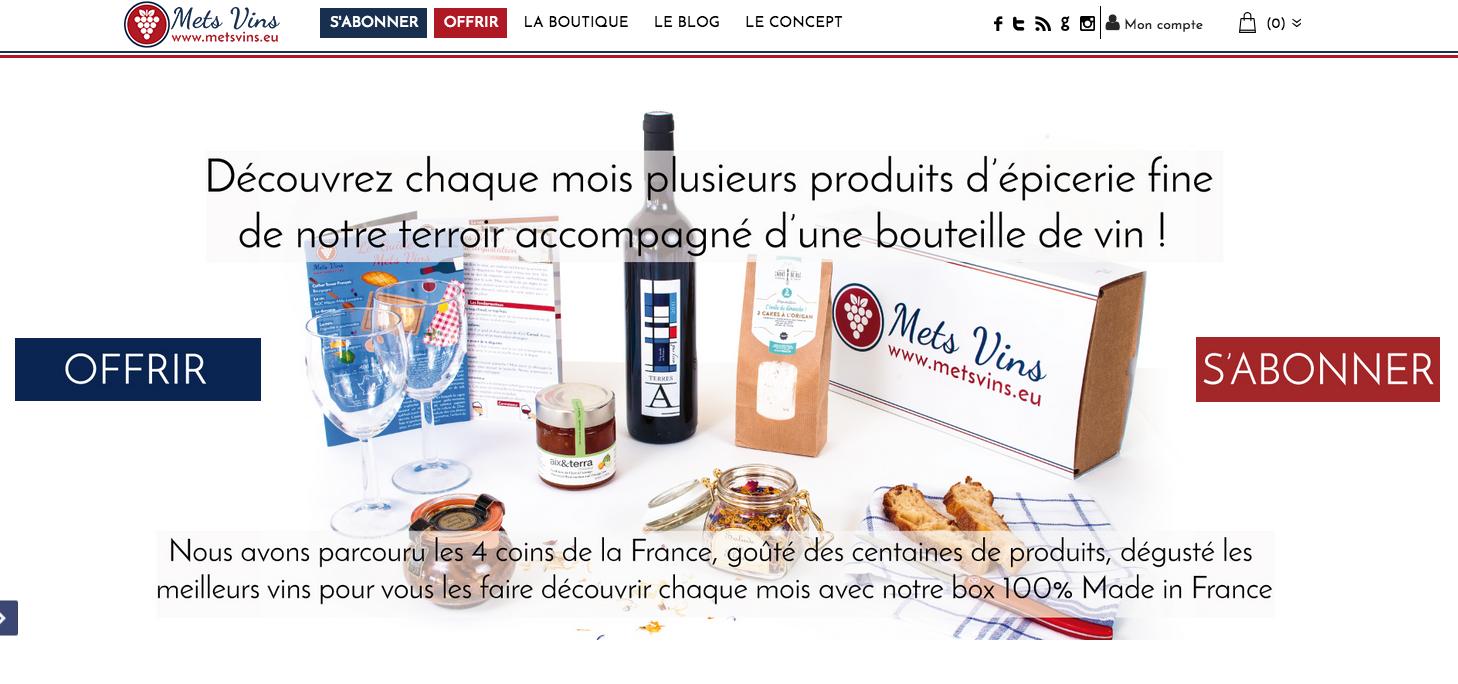 Mets Vins : Box vins et épicerie fine