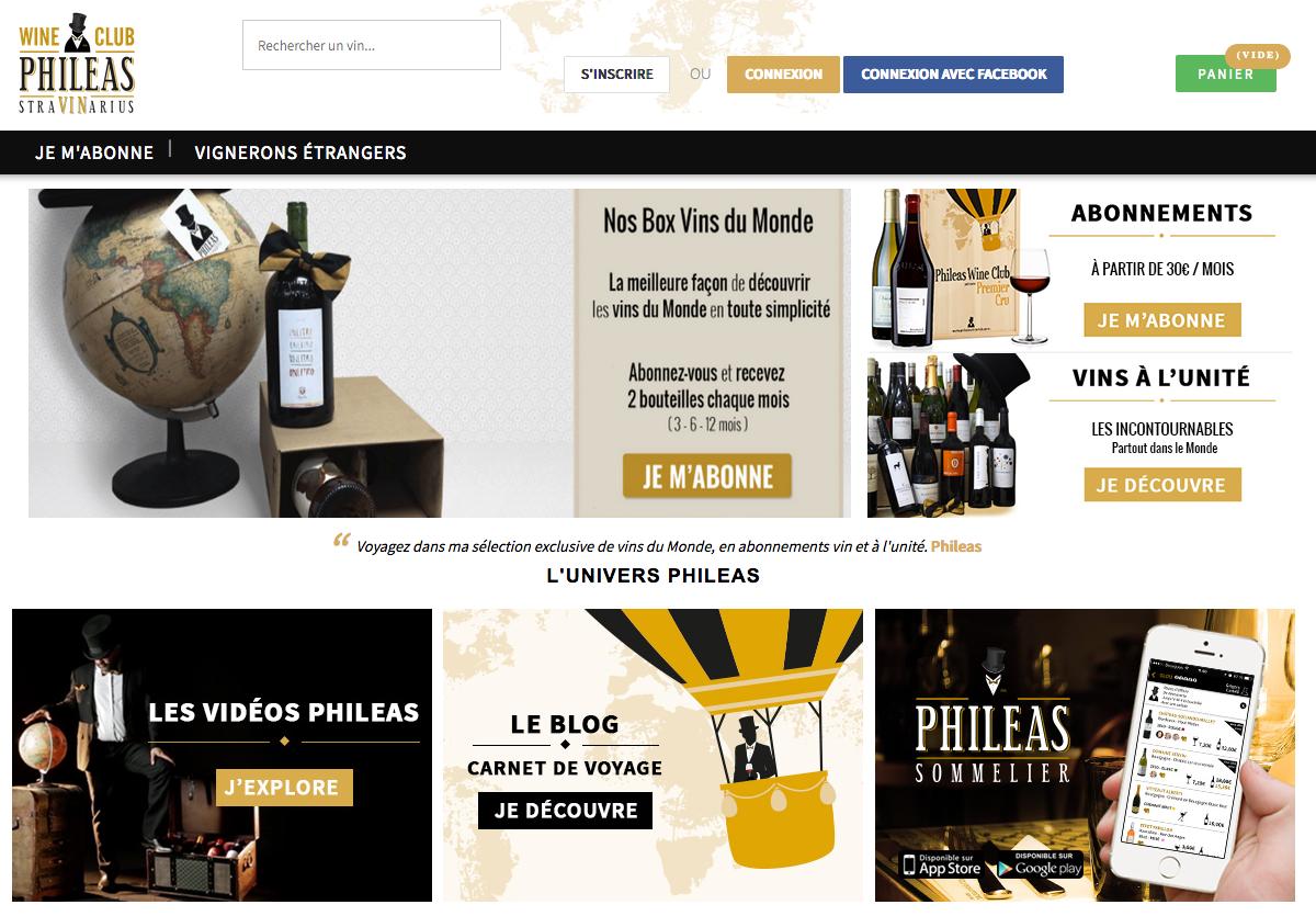 Phileas wine club : box vin étranger