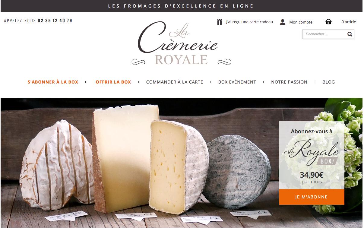 La cremerie royale : une box de fromages d'exception